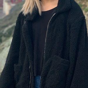 Jackets & Blazers - Black Teddy bear Jacket